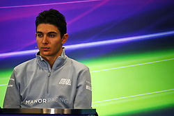 Esteban Ocon (FRA) Manor Racing in the FIA Press Conference.<br /> 27.10.2016. Formula 1 World Championship, Rd 19, Mexican Grand Prix, Mexico City, Mexico, Preparation Day.<br /> Copyright: Batchelor / XPB Images / action press