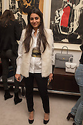 MEGHA MITTALL, Stefania Pramma launched her handbag brand PRAMMA  at the Kensington residence of her twin sister, art collector Valeria Napoleone.. London.  29 April 2015