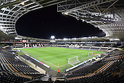 Hull City KC Stadium before the Sky Bet Championship match between Hull City and Derby County at the KC Stadium, Kingston upon Hull, England on 27 November 2015. Photo by Ian Lyall.