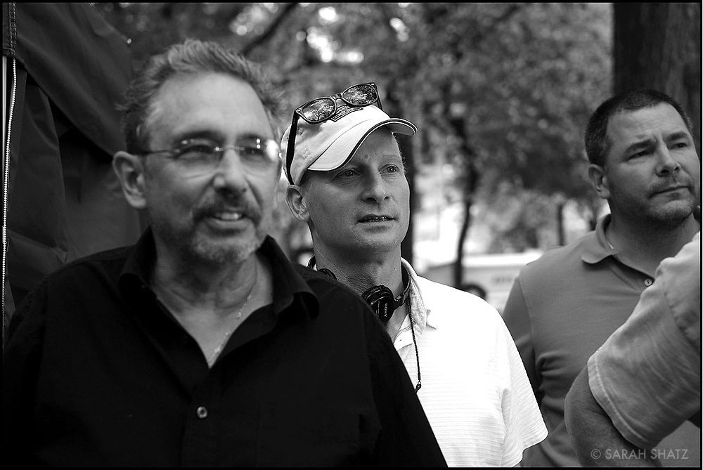 "Fred Murphy, Ezra Swerdlow, Erik Swanek on the set of ""Ghost Town"" (Dir: David Koepp, 2008)"