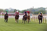 Coronation Cottage ridden by Charlie Bennett and trained by Malcolm Saunders in the Octagon Consultancy Handicap race. Red Alert ridden by Tom Marquand and trained by Tony Carroll in the Octagon Consultancy Handicap race.  - Ryan Hiscott/JMP - 24/05/2019 - PR - Bath Racecourse - Bath, England - Friday 24th May 2019 Race Meeting at Bath Racecourse