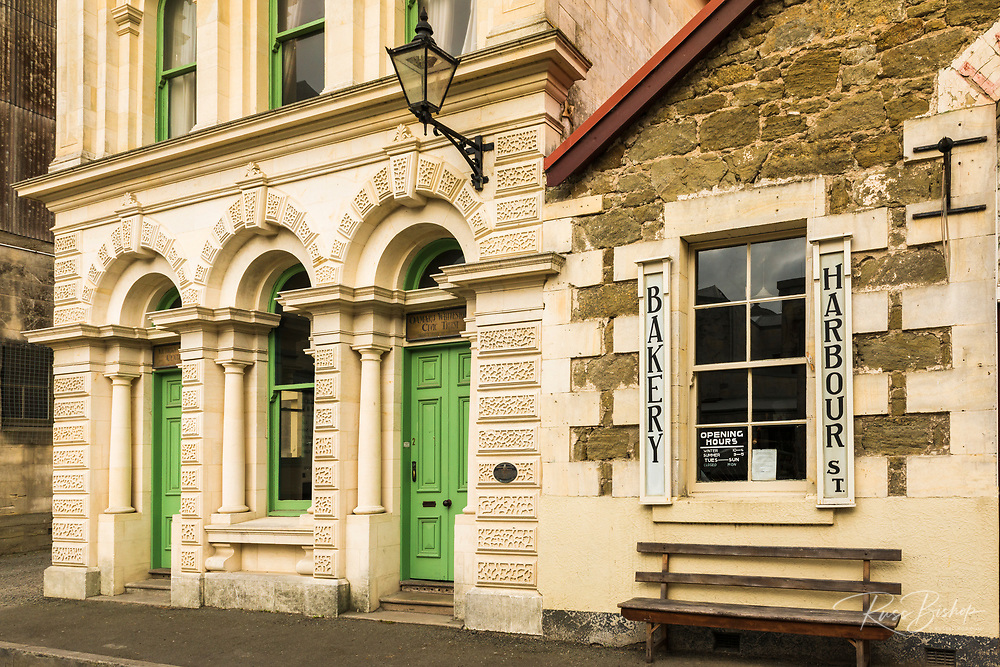 Historic Harbour Board Building and bakery, Oamaru, Otago, South Island, New Zealand