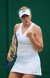 LONDON, ENGLAND - Monday, June 21, 2010: Elena Baltacha (GBR) during the Ladies' Singles 1st Round on day one of the Wimbledon Lawn Tennis Championships at the All England Lawn Tennis and Croquet Club. (Pic by David Rawcliffe/Propaganda)