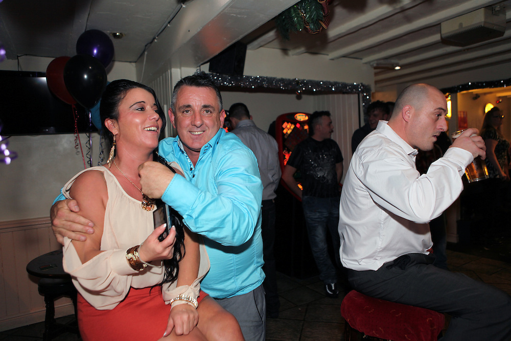 Paddy Doherty, his family and friends at their New Year's party, 31/01/2011, Queensferry, North Wales