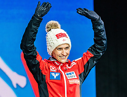 28.02.2019, Seefeld, AUT, FIS Weltmeisterschaften Ski Nordisch, Seefeld 2019, Skisprung, Damen, Siegerehrung, im Bild Eva Pinkelnig (AUT) // Eva Pinkelnig of Austria during the winner Ceremony for the ladie's Skijumping of the FIS Nordic Ski World Championships 2019. Seefeld, Austria on 2019/02/28. EXPA Pictures © 2019, PhotoCredit: EXPA/ Stefan Adelsberger