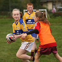 Aisling Hunt in action at the East Clare Eagles rugby training in Tulla on Saturday morning.<br /><br />Photograph by Yvonne Vaughan.