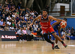 Lewis Champion of Bristol Flyers drives at the basket - Photo mandatory by-line: Arron Gent/JMP - 28/09/2019 - BASKETBALL - Crystal Palace National Sports Centre - London, England - London City Royals v Bristol Flyers - British Basketball League Cup