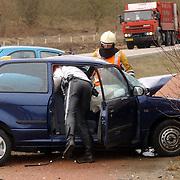 Dodelijk ongeval Randweg Huizen.politie, beknelling, verkeer