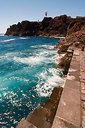 View of Punta de Teno, Tenerife, Spain, with ocan and waves
