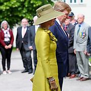 LUX/Luxembug/20180523 - Staatbezoek Luxemburg 2018 dag 1, kranslegging Willem-Alexander en Maxima met Groothertog Henri