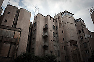 Buildings in downtown Athens. Building constructions was one of the first industries that suffered a major blow due to the economic crisis in Greece.