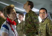 HRH The Princess Royal, Princess Anne today visited troops at Hainault Forest Park, including personnel from The Royal Logistic Corps &amp; 3 Mobile Catering Squadron, Royal Air Force (pictured here) to thank them for their role in supporting the London 2012 Olympics.<br /> 11/08/2012.<br /> <br /> Credit should read: Corporal Mark Larner RY/MOD<br /> <br /> During the Olympics a temporary military camp was set up in Hainault Forest Country Park in East London for over 3,000 tri-services personnel charged with keeping the Olympics Games secure.