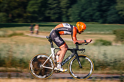 Jens Mouris of Roompot-Nederlandse Loterij, Dutch Individual Time Trial Nationals Men Elite, Stokkum, Montferland, The Netherlands, 21 June 2017. Photo by Pim Nijland / PelotonPhotos.com | All photos usage must carry mandatory copyright credit (Peloton Photos | Pim Nijland)