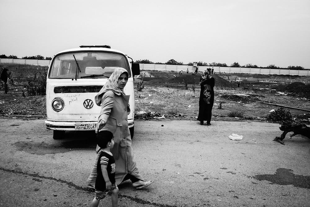 Aleppo, Syria, 2012/10/16.<br /> A view of informal camp in Bab Al-Salaam.