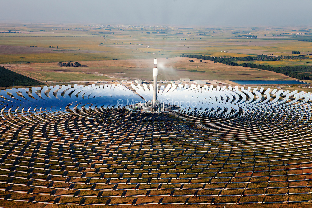 Gemasolar,A 15 MWe solar-only power tower plant, Gemasolar,  employing molten salt technologies for receiving and energy storage. Its 16-hour molten salt storage system can deliver power around the clock. It runs equivalent of 6570 full hours out of 8769 total. Gemasolar is owned by Torresol Energy and has been completed in May 2011.