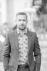 September 24, 2018 - San Sebastian, Spain - (EDITOR'S NOTE: Image was converted to black and white) Ryan Gosling attends the 'First Man' Red Carpet during the 66th San Sebastian International Film Festival on September 24, 2018 in San Sebastian, Spain. (Credit Image: © Manuel Romano/NurPhoto/ZUMA Press)