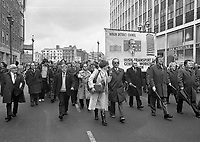 PAYE Protest march on O'Connell Street, Dublin, circa April 1983 (Part of the Independent Newspapers Ireland/NLI Collection).