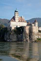 Wachau Valley, Austria:  Schloss Schoenbuehel hs been a landmark on the Danube River between Melk and Durnstein since the early 12th century, built on the possible site of a Roman fortress.