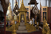 An intricate model exhibited at the Bangkok National Museum.<br /> The area around the Royal Palace in Bangkok is busy in preparation for the Royal Cremation Ceremony that will take place between 25-29 October 2017. It will be the final tribute and farewell to the revered His Majesty King Bhumibol Adulyadej (Rama IX) who died on the 13 October 2016 aged 89.