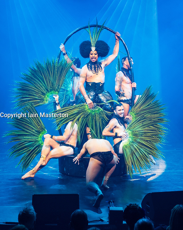 Edinburgh, Scotland, UK; 1 August, 2018. Cabaret acts from the  Assembly Gala Launch - Assembly's renowned opening night gala showcasing this year's programme highlights. Pictured; Briefs – Close Encounters