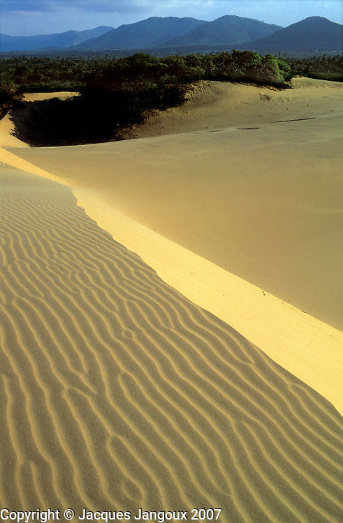 Brazil, Ceara. Atlantic coast: sand dunes with  wind (eolian) ripple marks near Cumbuco Beach  (NW of Fortaleza).