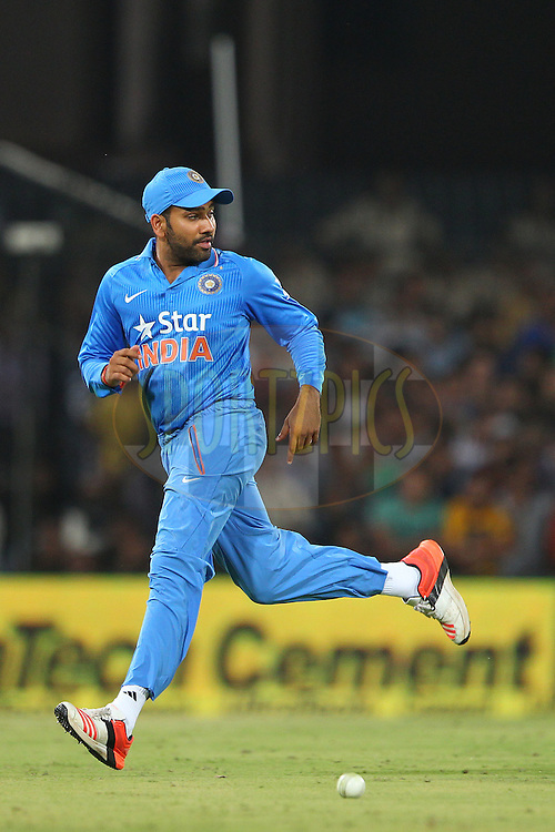 Rohit Sharma of India  during the 2nd Paytm Freedom Trophy Series One Day International ( ODI ) match between India and South Africa held at the Holkar Stadium in Indore, India on the 14th October 2015<br /> <br /> Photo by Ron Gaunt/ BCCI/ Sportzpics