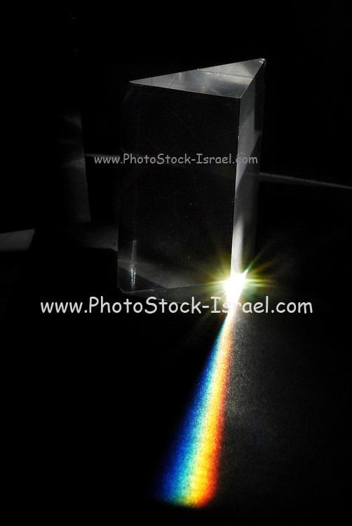 Light spectrum reflected through a prism