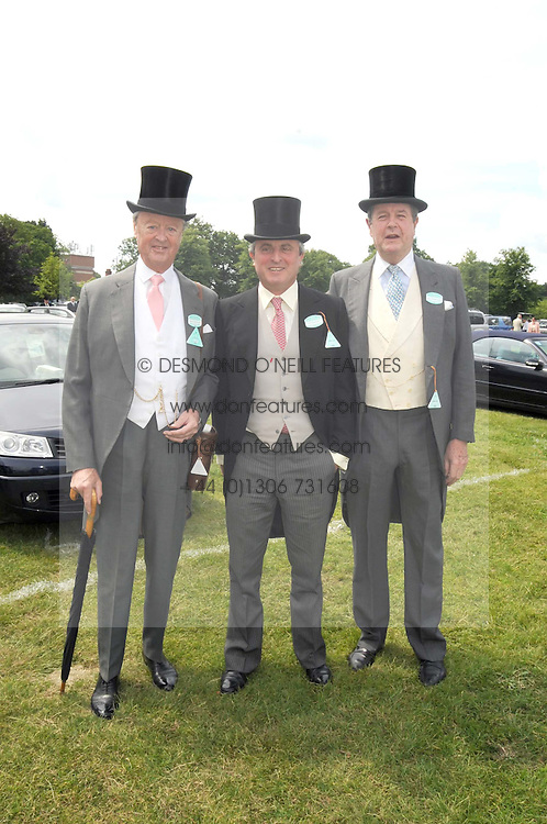 Left to right, the DUKE OF MARLBOROUGH, VISCOUNT ASTOR and LORD CHARLES SPENCER-CHURCHILL at the 1st day of the 2008 Royal Ascot racing festival on 17th June 2008.<br /><br />NON EXCLUSIVE - WORLD RIGHTS