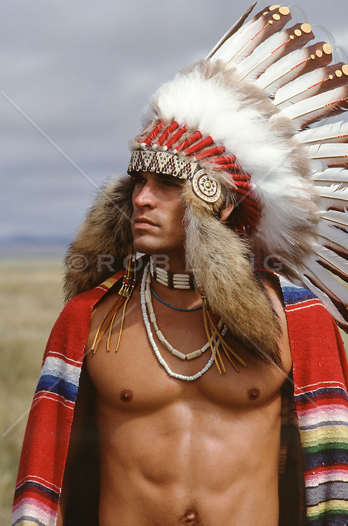 sexy American Indian without a shirt