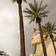 The Luxor sphinx on the Las Vegas strip.