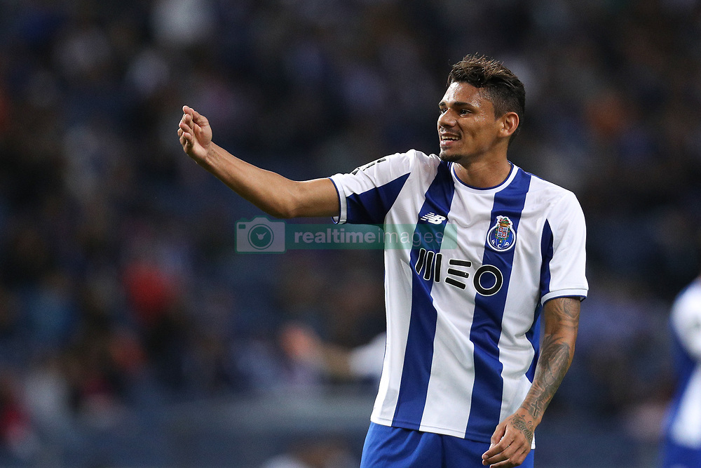 September 9, 2017 - Porto, Porto, Portugal - Porto's Brazilian forward Soares reacts during the Premier League 2017/18 match between FC Porto and GD Chaves, at Dragao Stadium in Porto on September 9, 2017. (Credit Image: © Dpi/NurPhoto via ZUMA Press)