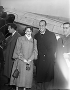Rosemary Clooney and Jose Ferrer on a visit to Ireland. <br />