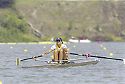 St Catherines, CANADA,  Women's Single Sculls Sculls AUS W1X Gina DOUGLAS, competing at the 1999 World Rowing Championships - Martindale Pond, Ontario. 08.1999..[Mandatory Credit; Peter Spurrier/Intersport-images]  ..St Catherines, CANADA,  Women's Single Sculls Sculls AUS W1X Gina DOUGLAS, competing at the 1999 World Rowing Championships - Martindale Pond, Ontario. 08.1999..[Mandatory Credit; Peter Spurrier/Intersport-images]     ... 1999 FISA. World Rowing Championships, St Catherines, CANADA