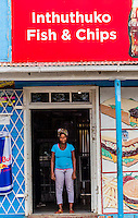 A fish and chips shop, Soweto (South Western townships), Johannesburg, South Africa.
