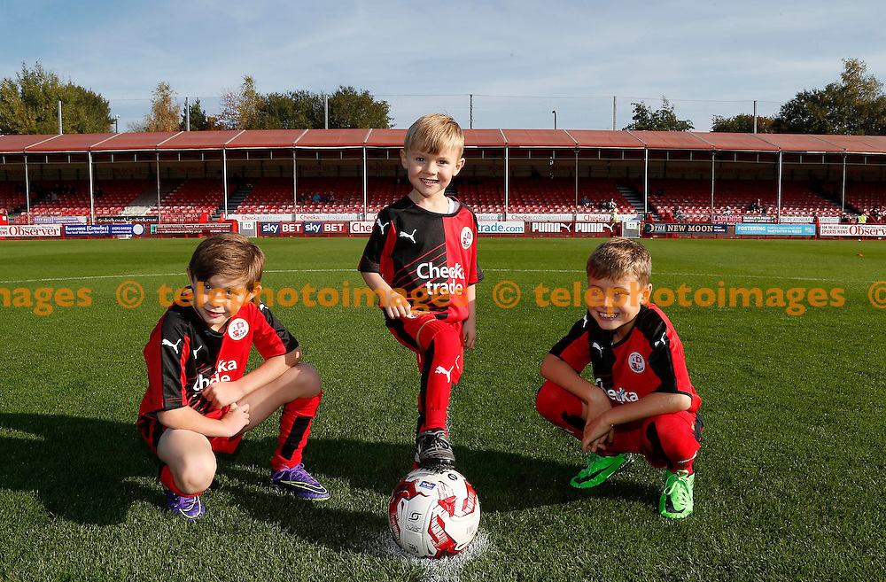 Mascots seen before  the Sky Bet League 2 match between Crawley Town and York City at the Checkatrade.com Stadium in Crawley. October 31, 2015.<br /> James Boardman / Telephoto Images<br /> +44 7967 642437