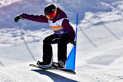HAMEL Sandrine, SB-LL2, CAN, Banked Slalom at the WPSB_2019 Para Snowboard World Cup, La Molina, Spain
