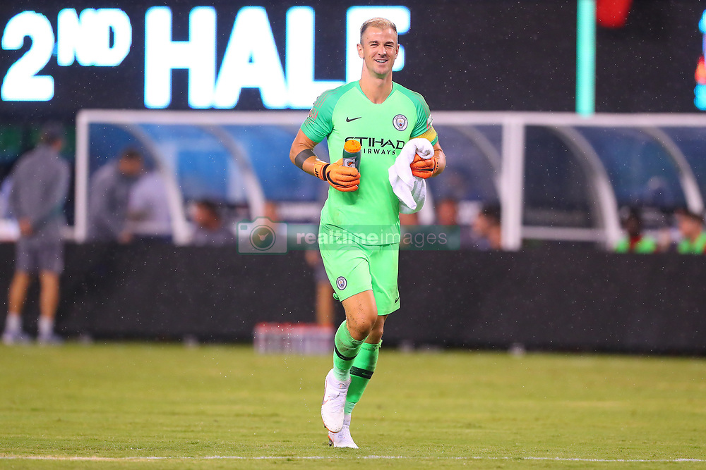 July 25, 2018 - East Rutherford, NJ, U.S. - EAST RUTHERFORD, NJ - JULY 25:  Manchester City goalkeeper Joe Hart (13) enters the field  during the second half of the International Champions Cup Soccer game between Liverpool and Manchester City on July 25, 2018 at Met Life Stadium in East Rutherford, NJ.  (Photo by Rich Graessle/Icon Sportswire) (Credit Image: © Rich Graessle/Icon SMI via ZUMA Press)