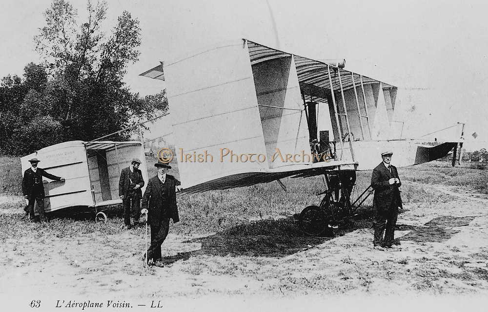 Voisin biplane, 1910. From a photograph