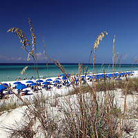 Unbrellas on the beach along the Florida Scenic Highway 30A and the Emerald Coast in the panhandle area of Florida.(AP Photo/Alex Menendez) Florida scenic highway photos from the State of Florida. Florida scenic images of the Sunshine State.