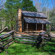 John Oliver's cabin at Cades Cove, Great Smoky Mountains National Park, Tennessee