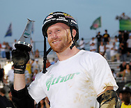 Ryan Nyquist placed third at the AST Dew Tour Right Guard Open BMX Dirt Finals Friday, July 18, 2008 in Cleveland, OH.