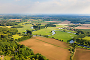 Nederland, Limburg, Roermond, 27-05-2013;  Roerdal met meanderende rivier Roer ,omgeving van Lerop.<br /> The Roer valley near Lerop. The Roer River meandering in idyllic rural setting.<br /> luchtfoto (toeslag op standard tarieven)<br /> aerial photo (additional fee required)<br /> copyright foto/photo Siebe Swart