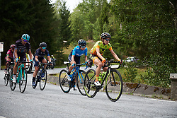 Lourdes Oyarbide (ESP) on the break on the categorised climb at Ladies Tour of Norway 2018 Stage 3. A 154 km road race from Svinesund to Halden, Norway on August 19, 2018. Photo by Sean Robinson/velofocus.com