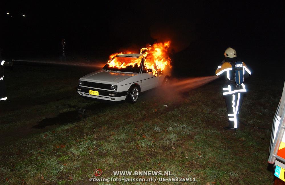 Autobrand Wolfskamerterrein IJsselmeerstraat Huizen