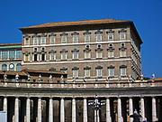 Papal Apartments in Saint Peter's Square in the Vatican City, Italy. The official religious residence of every serving pope since the 17th century.