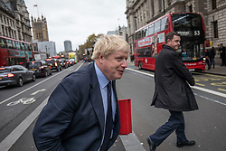 © Licensed to London News Pictures. 21/11/2017. London, UK. Foreign Secretary Boris Johnson on Whitehall. Photo credit: Rob Pinney/LNP