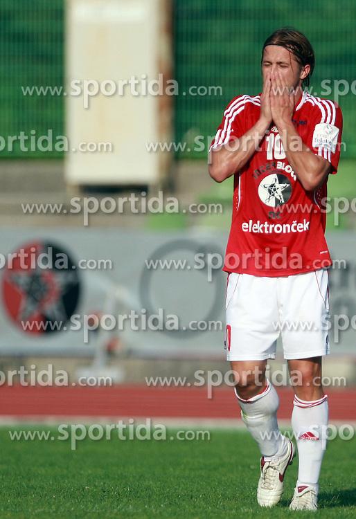 Dario Zahora (10) of Interblock at 7th Round of PrvaLiga Telekom Slovenije between NK Interblock vs NK Nafta Lendava, on September , 2008, in ZAK stadium in Ljubljana, Slovenia. Interblock won the match 3:1. (Photo by Vid Ponikvar / Sportal Images)