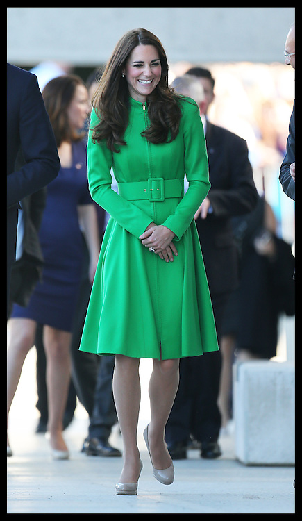 The Duchess of Cambridge arriving at the National Portrait Gallery  in Canberra, Australia, Wednesday, 23rd April 2014. Picture by Stephen Lock / i-Images