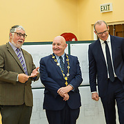 24.04.2017.       <br /> Minister for Housing Simon Coveney visiting the Moyross Community Centre, Limerick announcing funding of &euro;3 million for a refurbishment of the centre​. <br /> <br /> Pictured at the event were, Paddy Flannery, Moyross Community Centre, Cllr. Kieran O'Hanlon, Mayor Limerick City and County and Minister for Housing Simon Coveney. Picture: Alan Place.