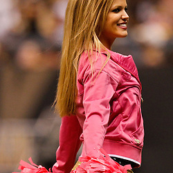 October 3, 2010; New Orleans, LA, USA; New Orleans Saints Saintsations cheerleaders perform during the third quarter at the Louisiana Superdome. Mandatory Credit: Derick E. Hingle-US PRESSWIRE
